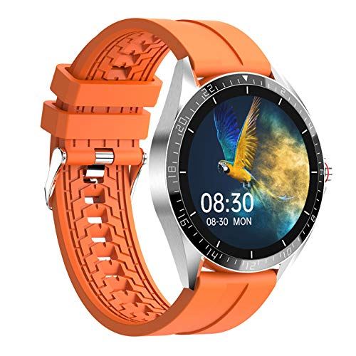 HQPCAHL Smart Watch, IP67 Waterproof Smartwatch for Men Women Activity Tracker with Full Touch Color Screen Heart Rate Monitor Pedometer Sleep Monitor for Android and iOS Phones,Naranja