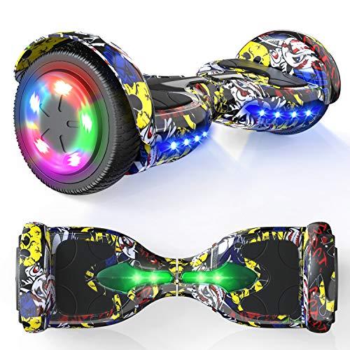 """MICROGO Hoverboards, Self Balance Scooter, 6,5 """"Elektroroller mit Bluetooth-Lautsprechern LED-Leuchten, Geschenk für Kinder und Jugendliche"""