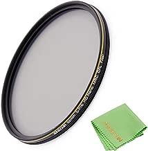 JONGSUN 82mm Polarizing Filter, Circular Polarizer Filter, S-Pro HD Nano MRC16, 16 Layers Multicoated, NITTO AGC Optics Glass, CPL Filter for Camera Lens