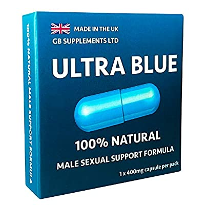 Ultra Blue (1 x 400mg Capsule) Strong Natural Ginseng Supplement for Men. Increase Stamina, Improve Performance, Explosive Energy with Powerful Results.100% Natural Male Support Supplement. (1)