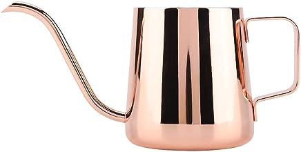 Preisvergleich für 350 ML Edelstahl Teekanne Mit Schwanenhals-Kaffeekanne Schwanenhals-Drip-Kaffeemaschine Kaffee Wasserkocher Gooseneck(Rose Gold)