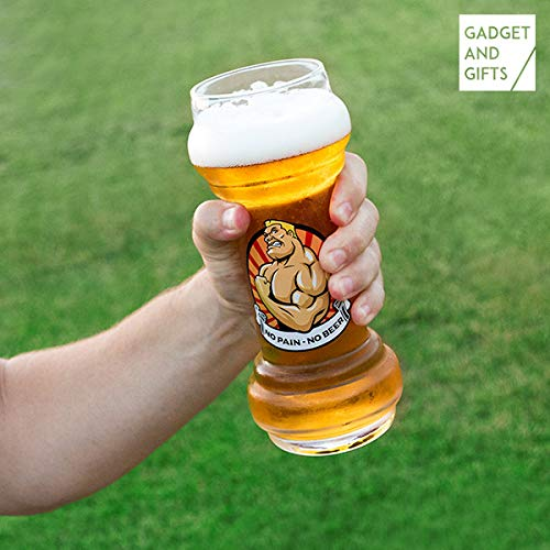 ootb Bierglas No Pain - No Bier, für ca. 830 ml, H: ca. 22 cm