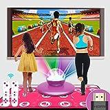 XYW Alfombra de Baile Doble HD 3D Máquina De Juego Somatosensorial Canciones Y Juegos PVC 30 mm de Espesor Manta de Masaje Calidad Casa EducaciónModo De Anime para niños y Adultos