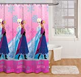 Jay Franco Disney, Frozen Anna & ELSA, Duschvorhang, Snowflake Curtain, 72 Inches x 72 Inches