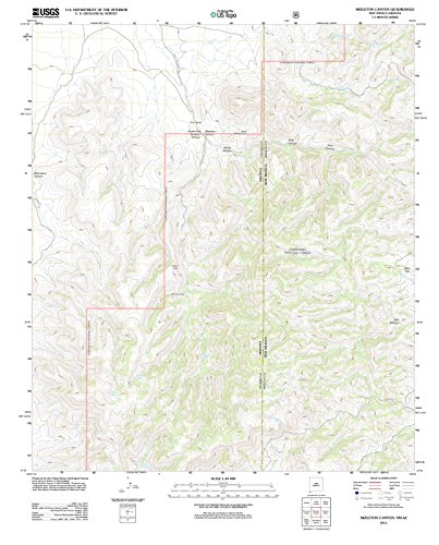 2012 Skeleton Canyon, NM - New Mexico - USGS Historical Topographic Map : 44in x 55in
