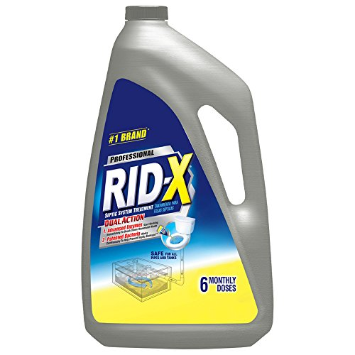 RID-X Commercial Septic System Liquid Treatment, Dual Action, 6 Monthly Doses, 48 Oz