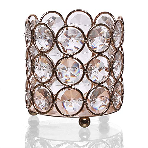SMXGF Kleine Crystal Nordic Kandelaar Metal Romantic Candle Holder Creative Slaapkamer Porte Bougie Mariage Wedding Candelabra (Color : Style 4)