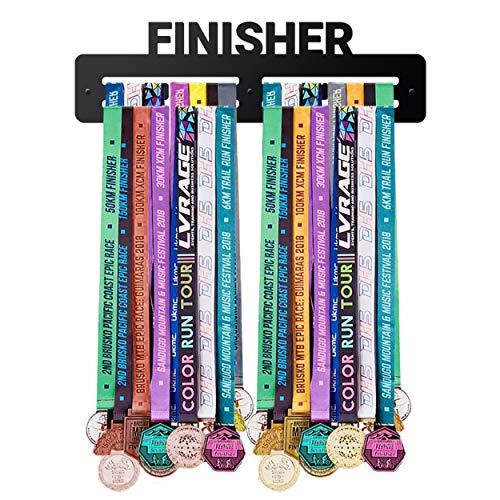 PROSCALE Medallero Colgador de medallas Medal Display Porta medallas de Madera para Colgar medallas Soporte Expositor medallas Deportivas Regalos para Deportistas (Finisher)