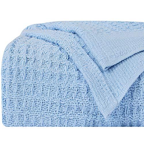 PiccoCasa - Manta térmica de punto 100% algodón, suave, li