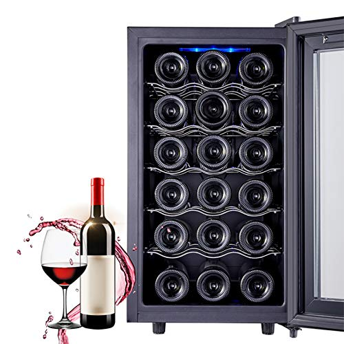 LLEH 18 Bottle Wine Cooler Freestanding Wine Cellars Compressor Wine Cooler Refrigerator Mini Fridge Small Wine Cellar for Office, Home, Dorm - Constant Temperature