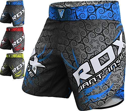 RDX MMA Pantalones Boxeo Corto Entrenamiento Muay Thai Shorts Running Fitness Kickboxing