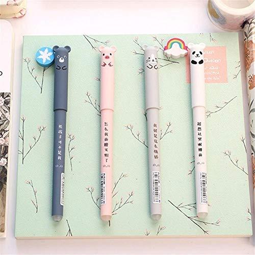Lifesongs Kugelschreiber,4 Süße Schweine Panda Löschbare Gel Stift Cartoon Löschbar Leicht Zu Reiben Magische Rub Gel Stift Süße Kugelschreiber