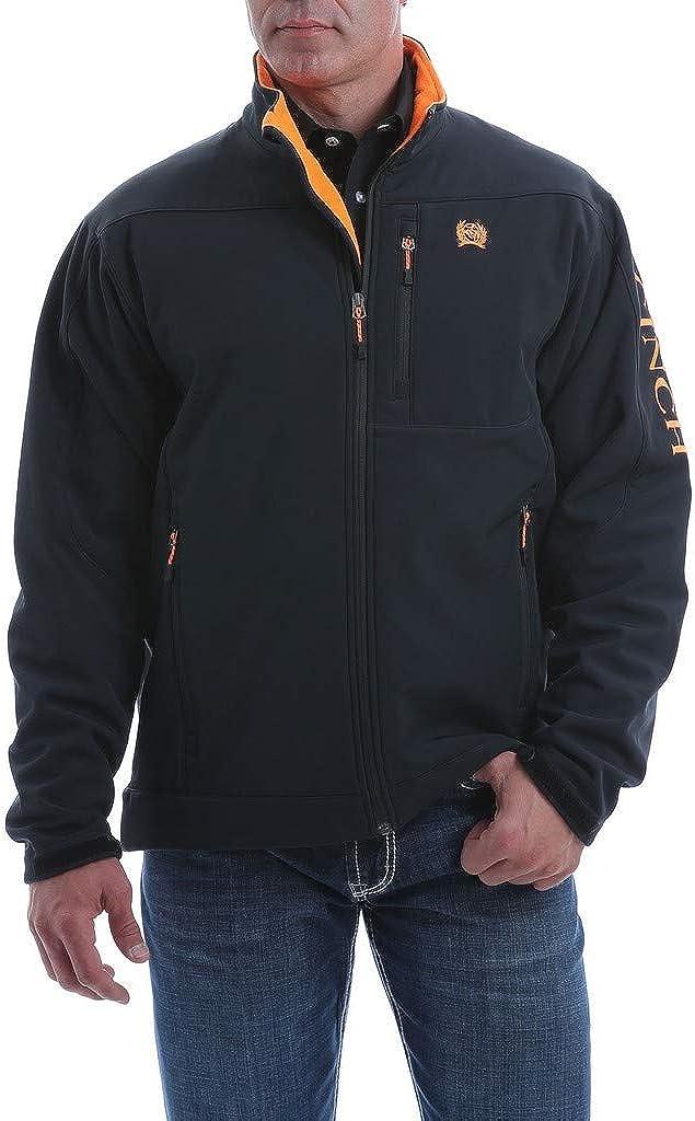 Cinch Men's Solid Logo Textured Bonded Jacket
