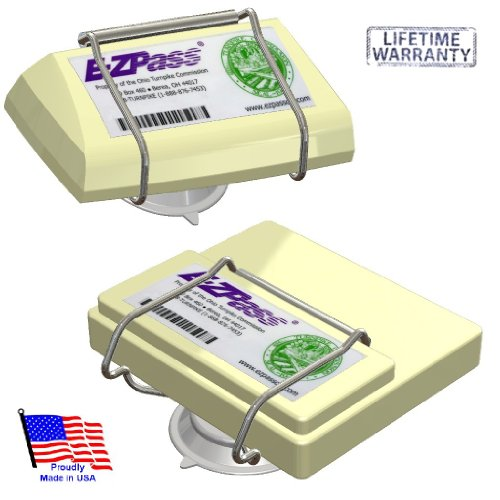 JL Safety EZ Pass-Port -  Indestructible Holder fits Mini and OLD size EZ Pass (not the Flex or HOV switch models), I Pass, I Zoom, PalPass hard case and FasTrak transponders. Holder only. Made in USA