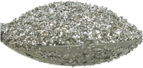 Silver Imported German Glass Glitter - 1 Ounce Jar - Fine 90 Grit (Most Popular Grain Size) Sparkly Glass Glitter - 311-9-SL