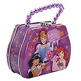 Disney DPUR Princess Kids Purse Shaped Tin Beaded Handle Lunch Box, One Size, Pink