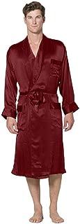 mens silk robe set