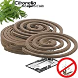 W4W Citronella Mosquito Repellent Coils - Outdoor Use Reaches Up to 10 feet - Each Coil Burns for 5-7 Hours (Five Pack Contains 20 coils & 10 Coil Stands)