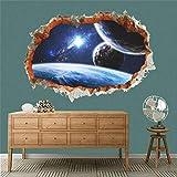 FOBMV Wandaufkleber Effekt Weltraum Planeten durch Wandaufkleber für Wohnzimmer Kinderzimmer...
