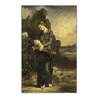 グスタフモローキャンバスアートパネル油絵アートパネルワークポスタープリント美的写真有名なウォールアートパネルホームリビングルーム屋内装飾50x80cmフレームなし