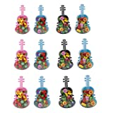 Parteet New Guitar Erasers - Pack of 12Pcs for Birthday Party Return Gifts for Kids