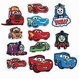 Parches Termoadhesivos Infantiles Decorativos Ropa 12 Piezas El Tren del Tanque para Chaquetas Sombrero Ropa Bolsas Decoración