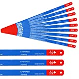 JatilEs - 30 lame per sega a mano bimetallica, 300 mm, lama per sega a mano bimetallica (10 x 14 tpi, 10 x 18 tpi e 10 x 24 tpi)