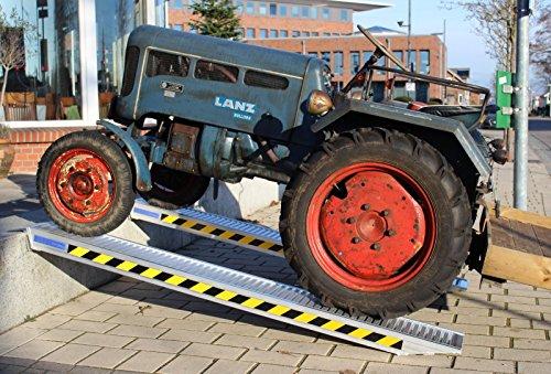 TrutzHolm® Profi Alu Auffahrrampe ca. 255 cm bis 3.300 kg/Paar Verlade Rampe Verladerampen Auto (2 Stück)