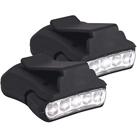 Outdoor Hot Clip On 5LED Head Cap Hat Light Head Lamp Hunting Fishing T7T2 L2A2