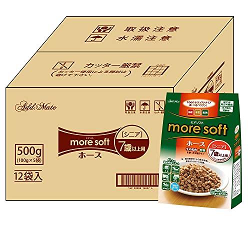 Admate Dog Food, More Soft Hose, Senior, 17.6 oz (500 g) x 12 Packs (Sold as case)