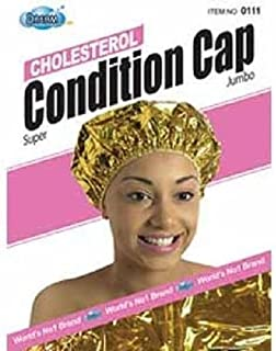 Dream Cholesterol Conditioning Cap Gold, One size fits all, cholesterol processing, special coating, body heat, natural heat, vinyl material, hair conditioner