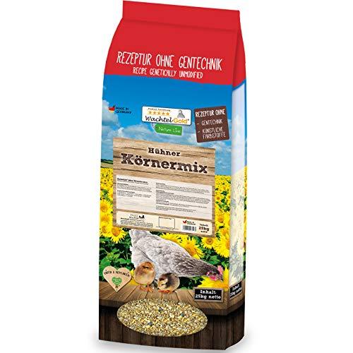 WachtelGold Hühnerfutter - 25kg, Körnermix - ohne Gentechnik - Körnerfutter
