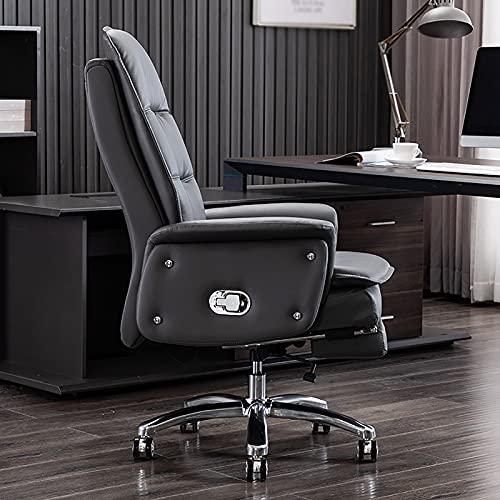 YDYBY Sedia Gaming Sedia Ergonomica reclinabile,con Massaggio Supporto Lombare Sedia Ufficio per Sedia direzionale in Pelle PU Sport con poggiapiedi a Scomparsa Tavoli e sedie,Grigio