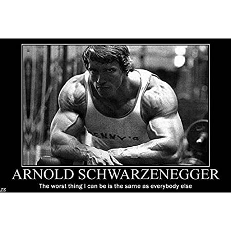 The Worst Thing…Arnold Schwarzenegger's Motivational Poster Print(12 inch X 18 inch, Rolled)