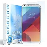 EAZY CASE 3X Panzerglas Bildschirmschutz 9H Festigkeit für LG G6, nur 0,3 mm dick I Schutzglas aus gehärteter 2,5D Panzerglasfolie, Bildschirmschutzglas, Transparent/Kristallklar