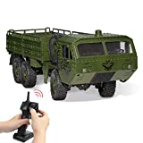 RC Cars, Remote Control Army Car with Transport Function 6WD Off-Road Truck All Terrains Electric Toy Waterproof RC Toy for Adult Boys Girls