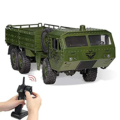 Amazon - Save 60%: RC Cars, Remote Control Army Car with Transport Function 6WD Off-Road T…