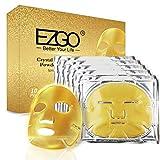 EZGO 24k Gold Face Mask, Collagen Gel Facial Masks, Professional Spa...