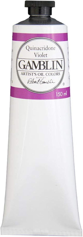 Gamblin Artist Oil color  Quinacridone purple  150 Mililiter Tube by Gamblin
