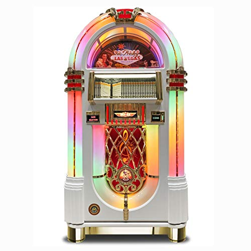 Rock-Ola | Full Size Bubbler CD Jukebox with Bluetooth (Elvis White Edition)