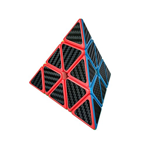 Wings of wind - Eco-Friendly plásticos Speed Pyraminx Cubo mágico Cubo de Puzzle Triangular (Fibra de Carbono)