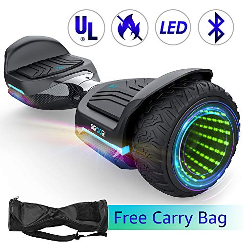 """Gyroshoes Hoverboard Off Road All Terrain Self Balancing Scooter 6.5"""" T581 Flash Two-Wheel Self Balancing Hoverboard with Bluetooth Speaker and LED Lights for Kids and Adults Gift UL 2272 Certified"""