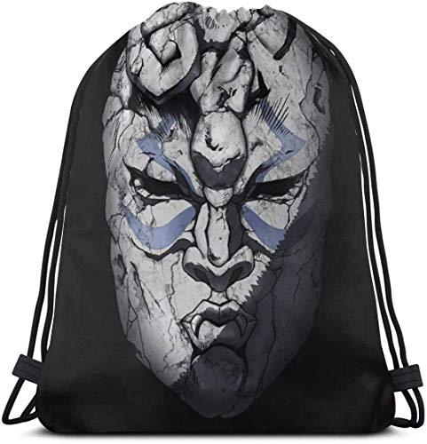 Awanxy Bolsas de Gimnasia Mujeres Hombres Natación JoJo's Bizarre Stone Mask Mochila con cordón Bolsas de Hilo Saco de Viaje Mochila