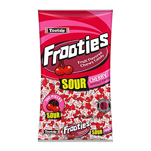Sour Cherry Frooties - Tootsie Roll Chewy Candy - 360 Piece Count, 38.8 oz Bag