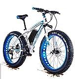 RDJM Bici electrica, Actualizar 48V 1500W eléctrico montaña de la Bicicleta 26 Pulgadas Fat Tire E-Bici (50-60km / h) Suspensión del Crucero de Mens Sports Bike MTB Completa batería de Litio Dirtbike