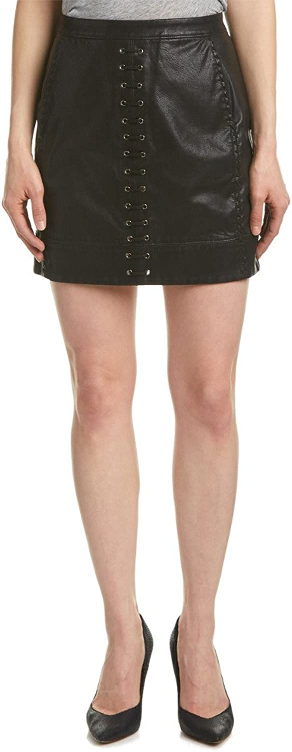 Blank NYC Women's Vegan Leather LaceUp Skirt in Boys Soul