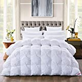 HOMBYS Natural White Goose Down Pinch Pleat Duvet King Size 13.5 Tog Winter