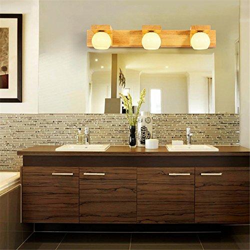 JJZHG wandlamp wandlamp waterdichte wandverlichting led-spiegel schijnwerper woonkamer wandlamp slaapkamer nachtkastje badkamer hout (54 * 7 cm) bevat: wandlamp