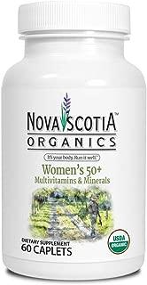 Womens Organic Plus Multivitamins and Minerals (60 Caplets), 50 plus; organic, vegetarian, food sourced vitamins and minerals, natural mulitivitamin, no GMO's