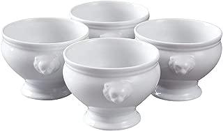Lion head cup Porcelain Soup Bowls, Soup Bowls Microwave Safe, Lion Head Soup Bowl, Flower Pot Planter Bowl,Soup and Fruit,6 Ounce,set of 4,Home Kitchen Supply